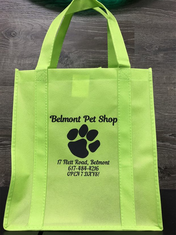 green reusable bag